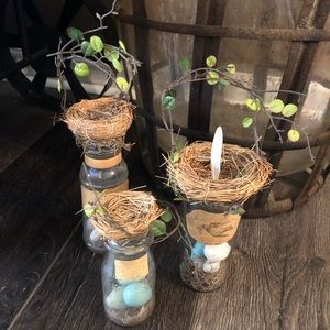🐦 New Garden Bird Nest Jars Handcrafted Etsy